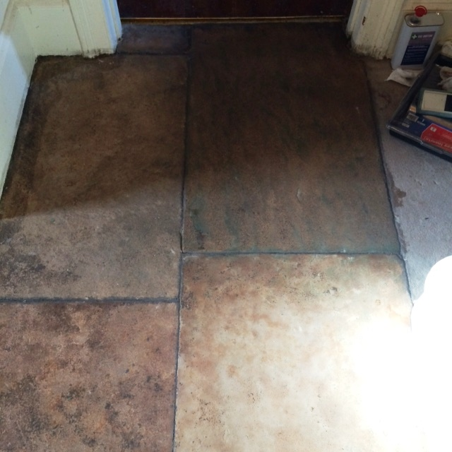 Sandstone Floor Grange Over Sands After