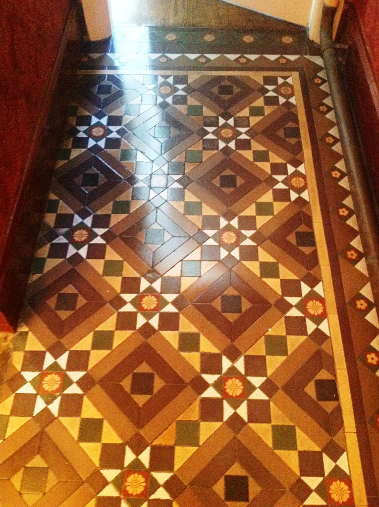 Victorian Tiled Hallway Cleaned and Sealed in Windermere