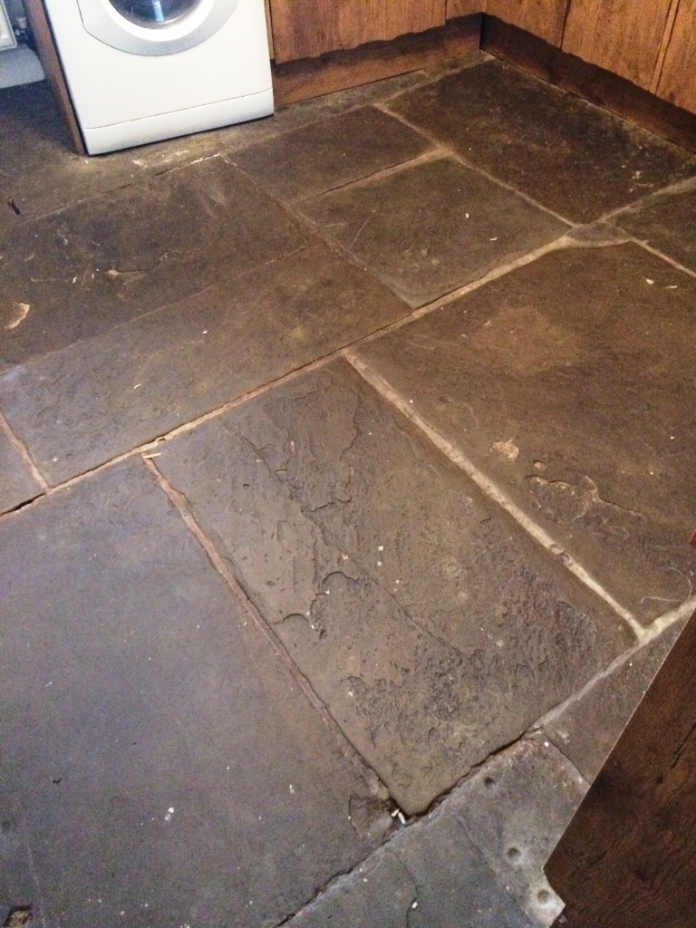 Flagstone Tiled Floor After Cleaning in Ambleside