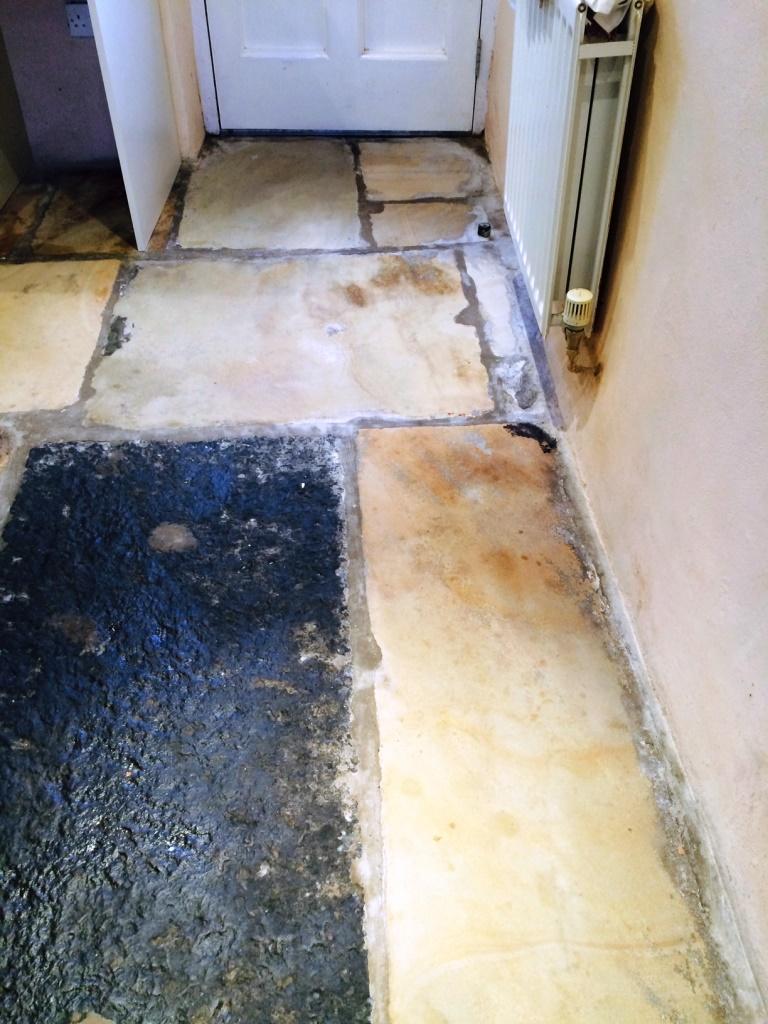 Sandstone Floor in Sedbergh After Milling