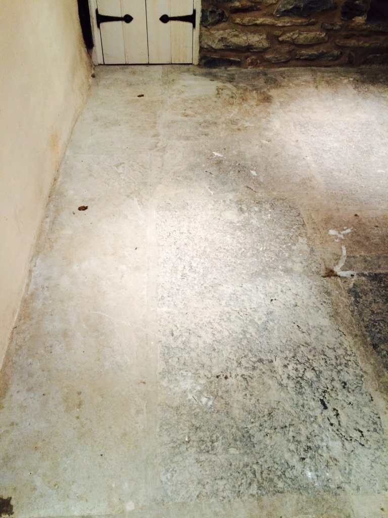 Sandstone Floor in Sedbergh Before Milling