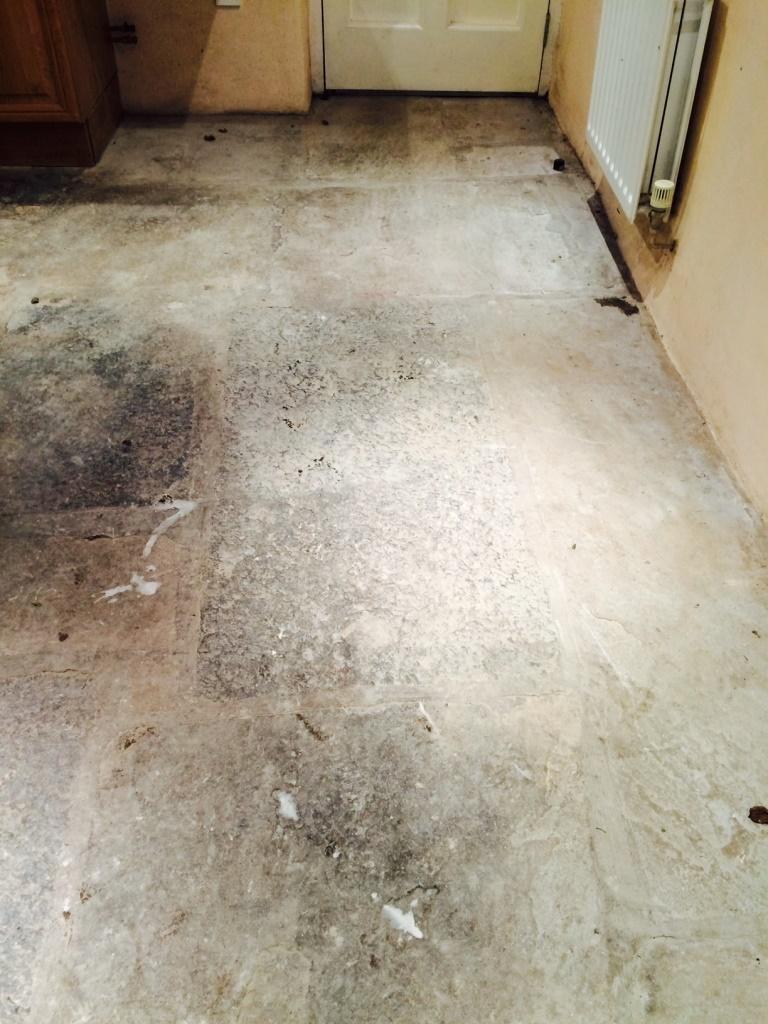 Sandstone Floor in Sedbergh Before Milling