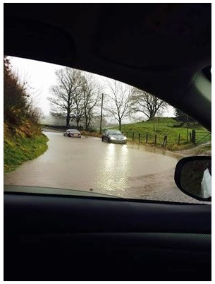 Storm Desmond Flooding on route to Sedbergh