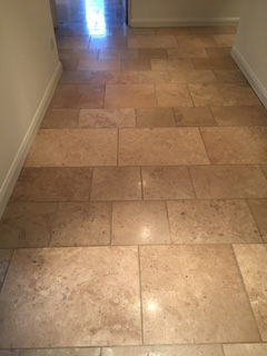 Travertine Tiled Flooring After Cleaning Kirby Lonsdale