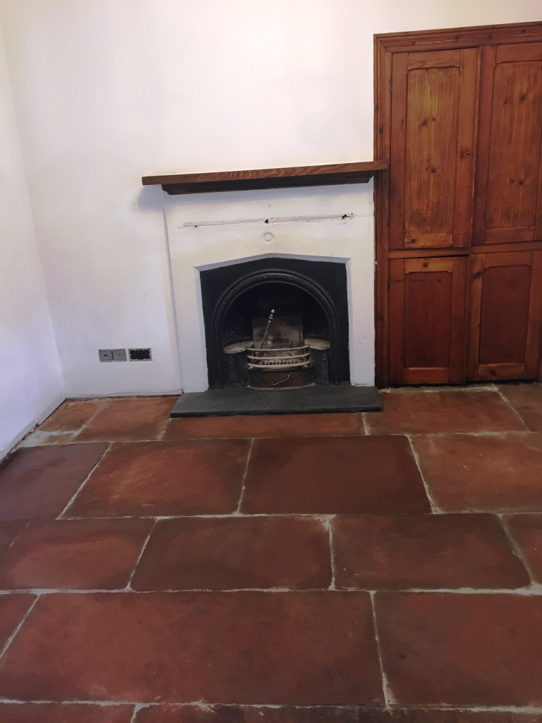 Red Sandstone Floor after cleaning in Kirby Lonsdale