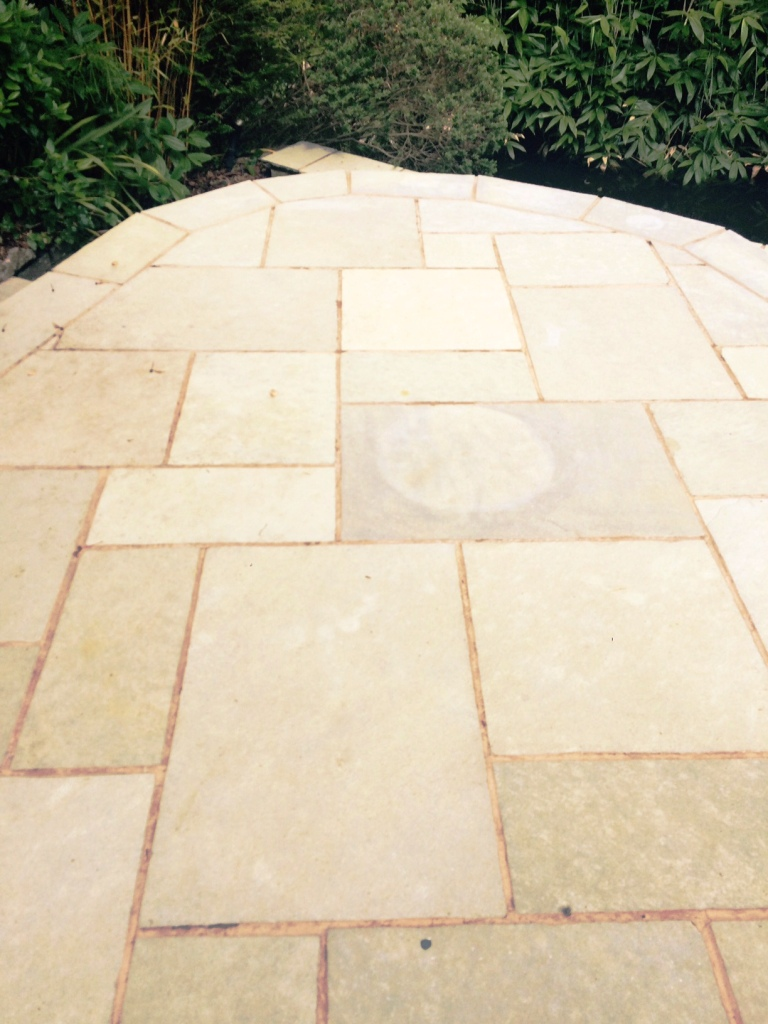 Indian Limestone Patio Windermere After Cleaning
