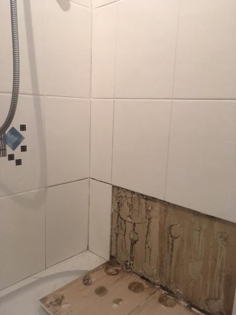Shower Cubicle During Restoration Kendal