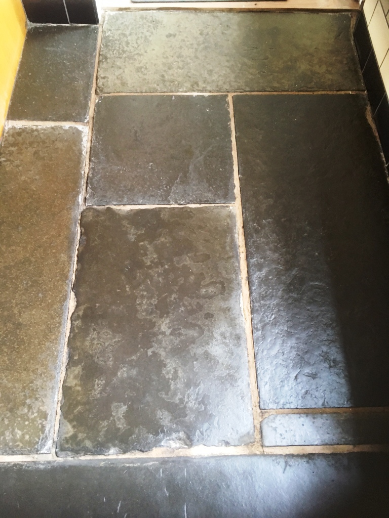Flagstone Floor Grange Over Sands After Cleaning