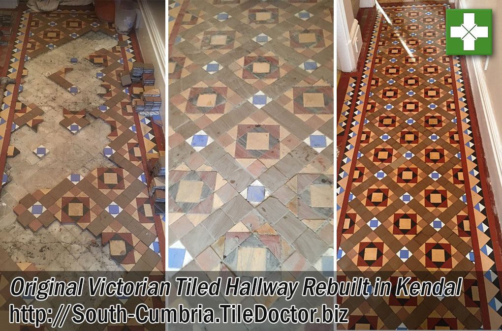 Original Victorian Floor Before and After Restoration in Kendal