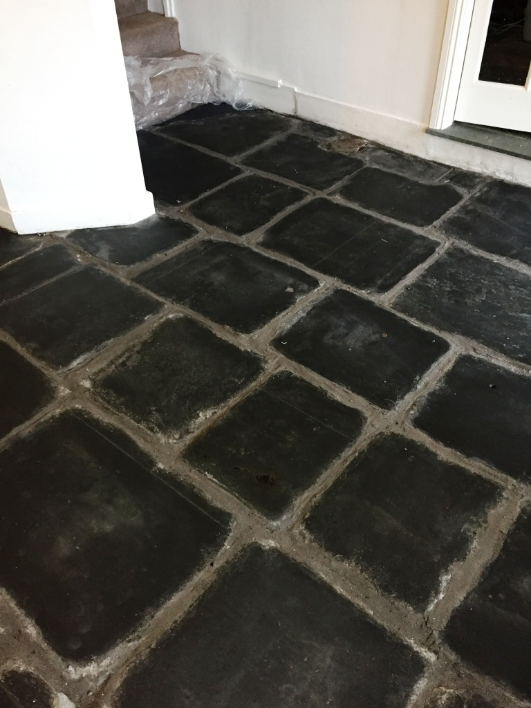 Slate Flagstone Floor After Milling in Hawkshead Cumbria