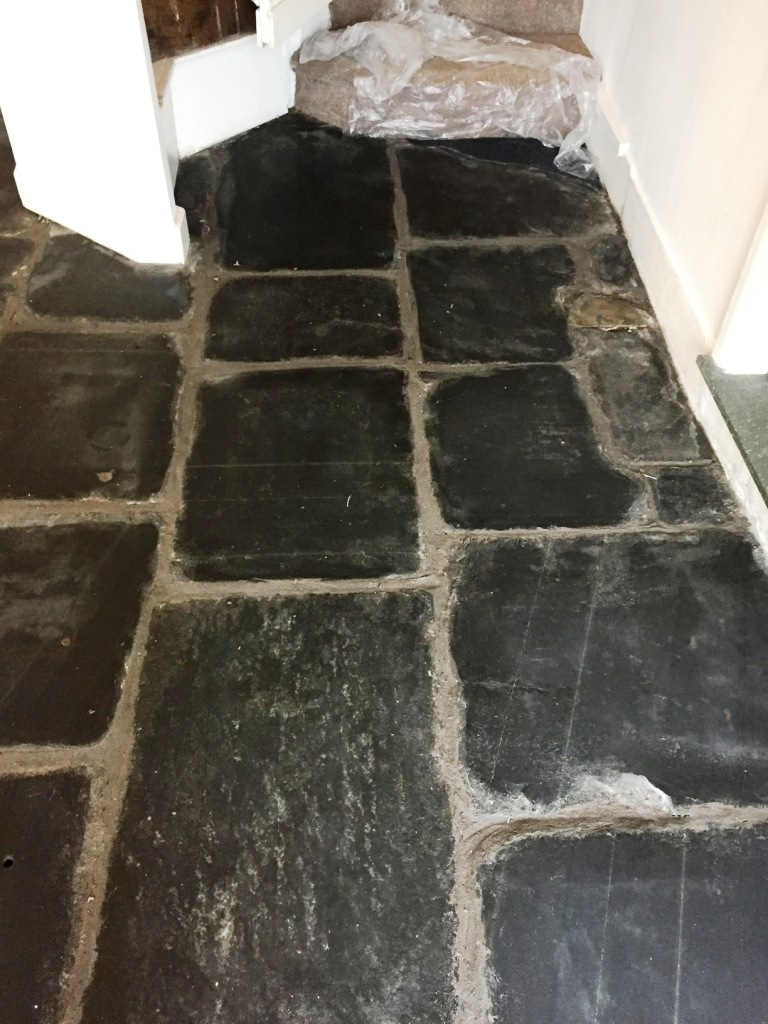 Slate Flagstone Floor After Milling in Hawkshead Cumbria