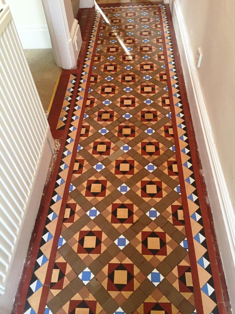 Victorian Tiled Hallway After Restorative Clean in Kendal