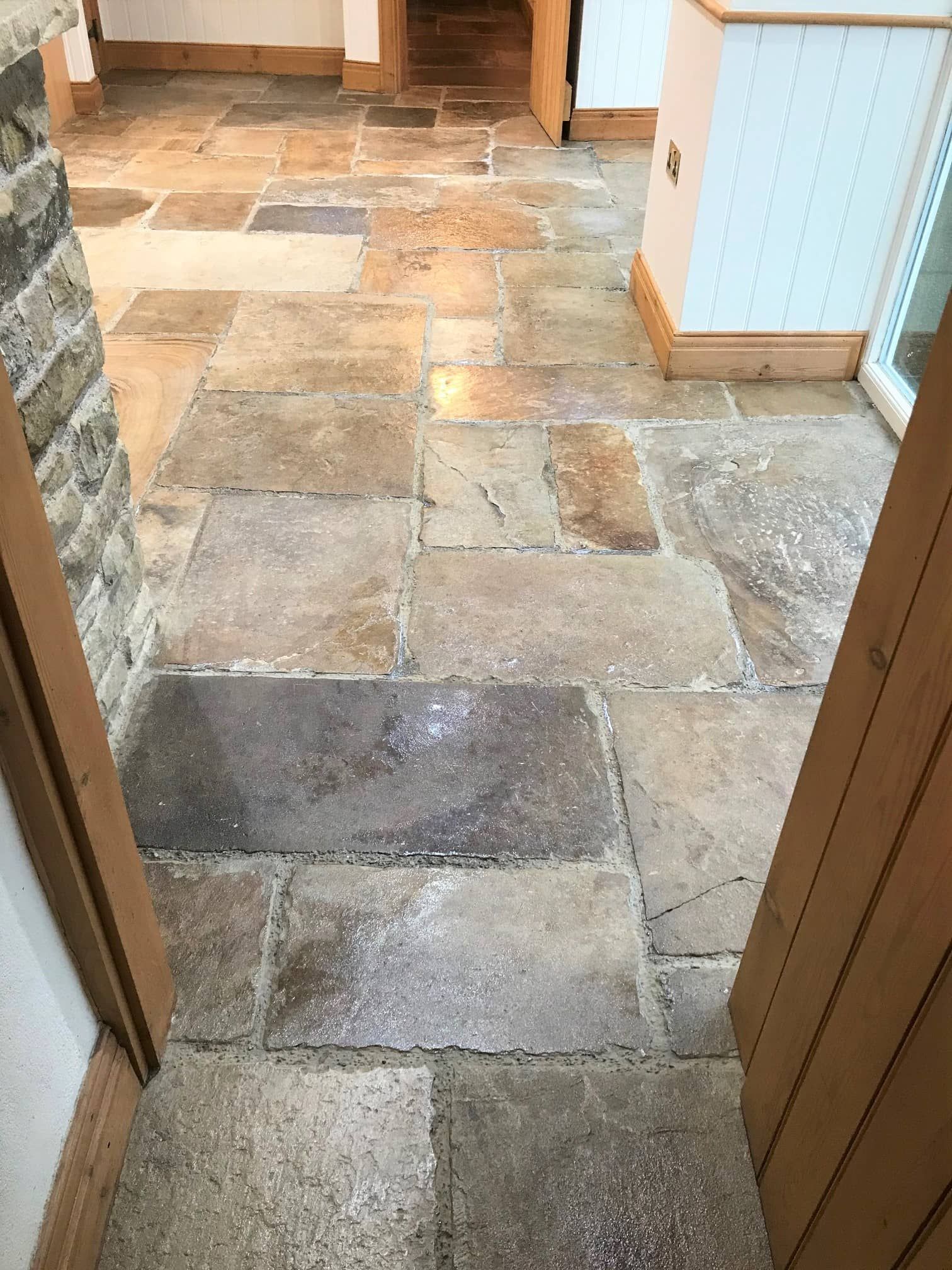Sandstone Floor After Clean Seal Windermere