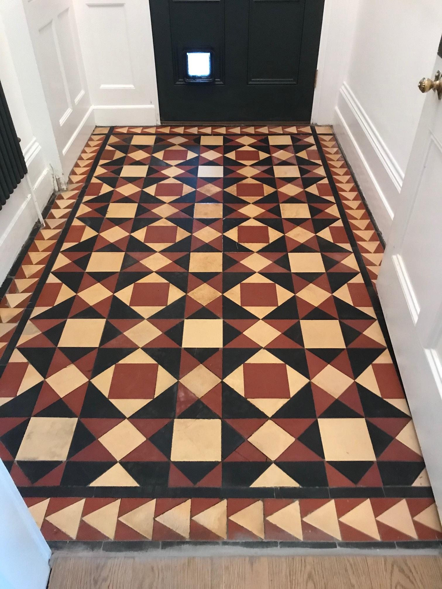 Victorian Tiled Entrance Floor After Rebuild Prizet Kendal