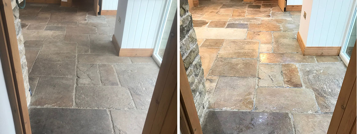 Sandstone-Floor-Before-After-Clean-Seal-Windermere