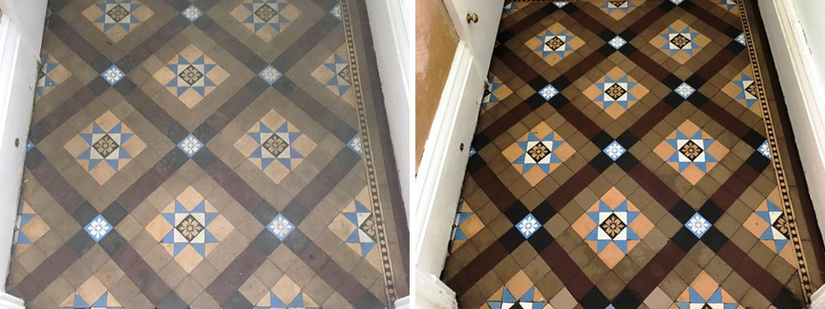 Restoring and Cleaning a Victorian Tiled Vestibule in Kendal