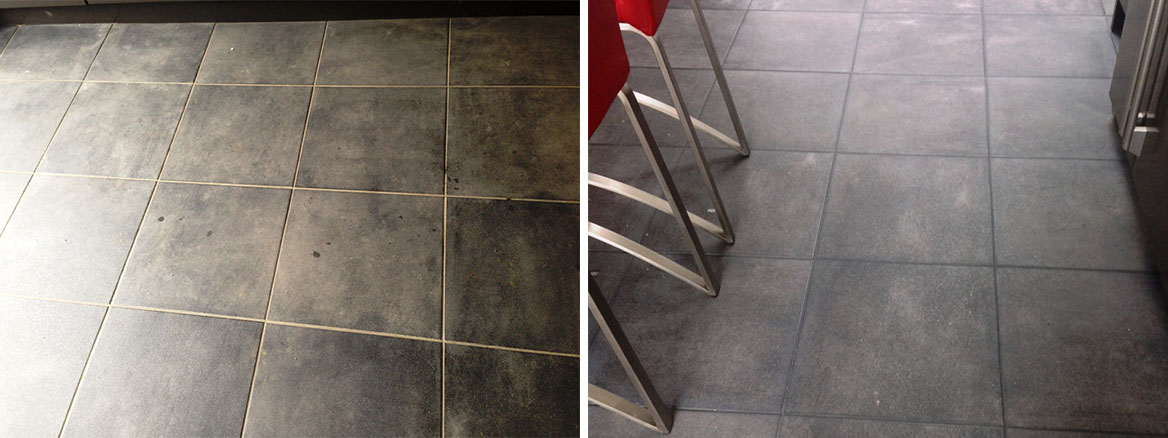 Changing the Grout Colour used on Porcelain tiles in Kendal