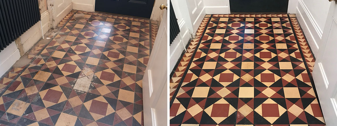 Victorian-Tiled-Entrance-Floor-Before-After-Rebuild-Prizet-Kendal