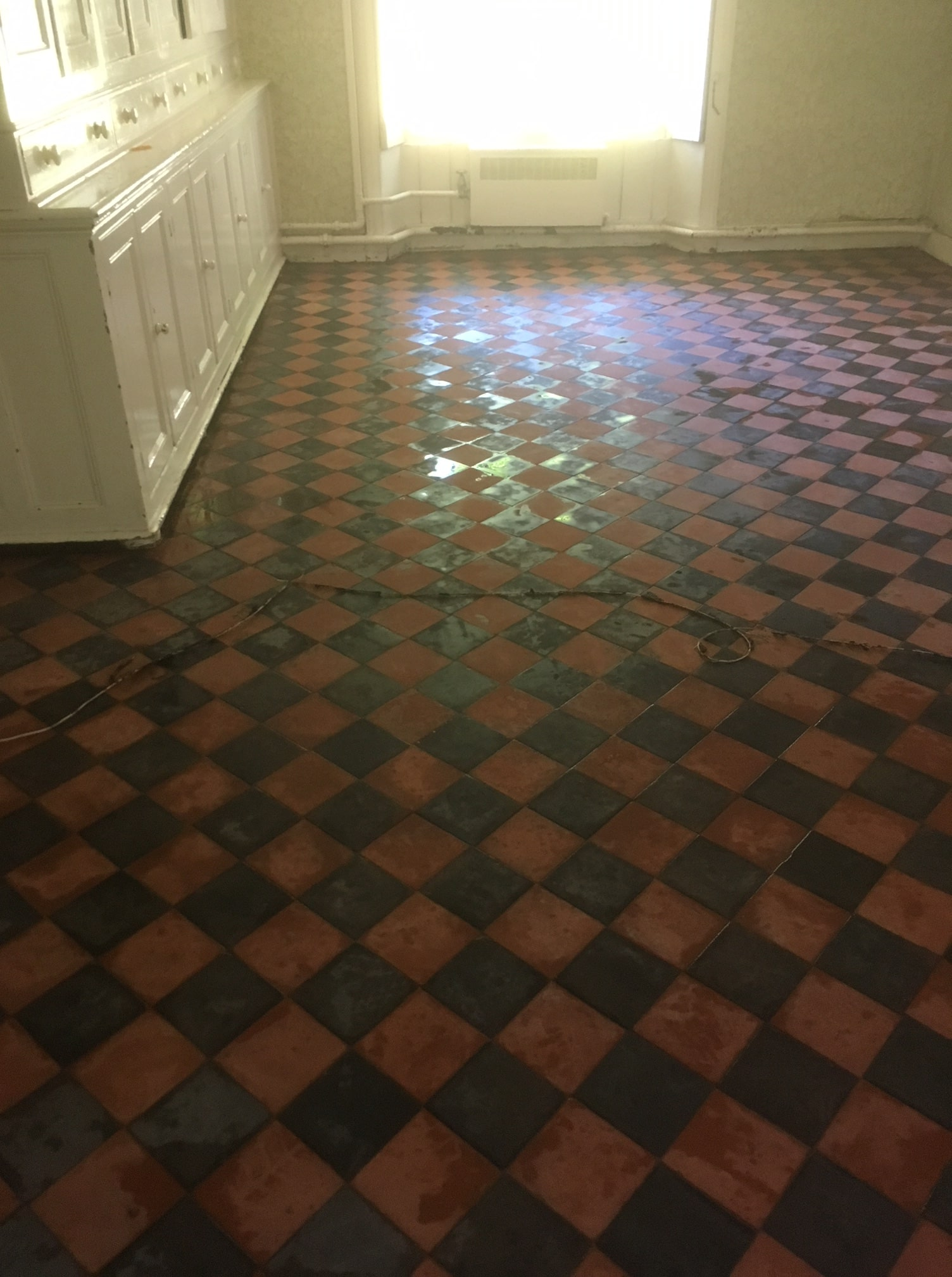Classic Red Black Victorian Period Floor After Cleaning Beetham