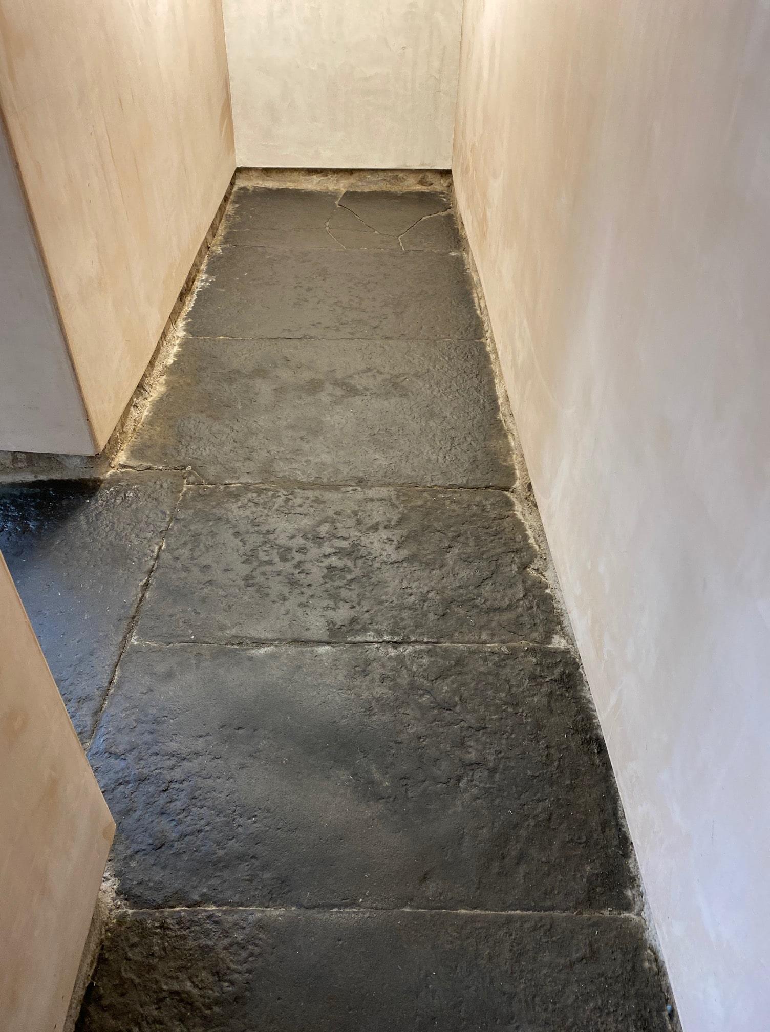 Black Flagstone Floor After Renovation Kendal