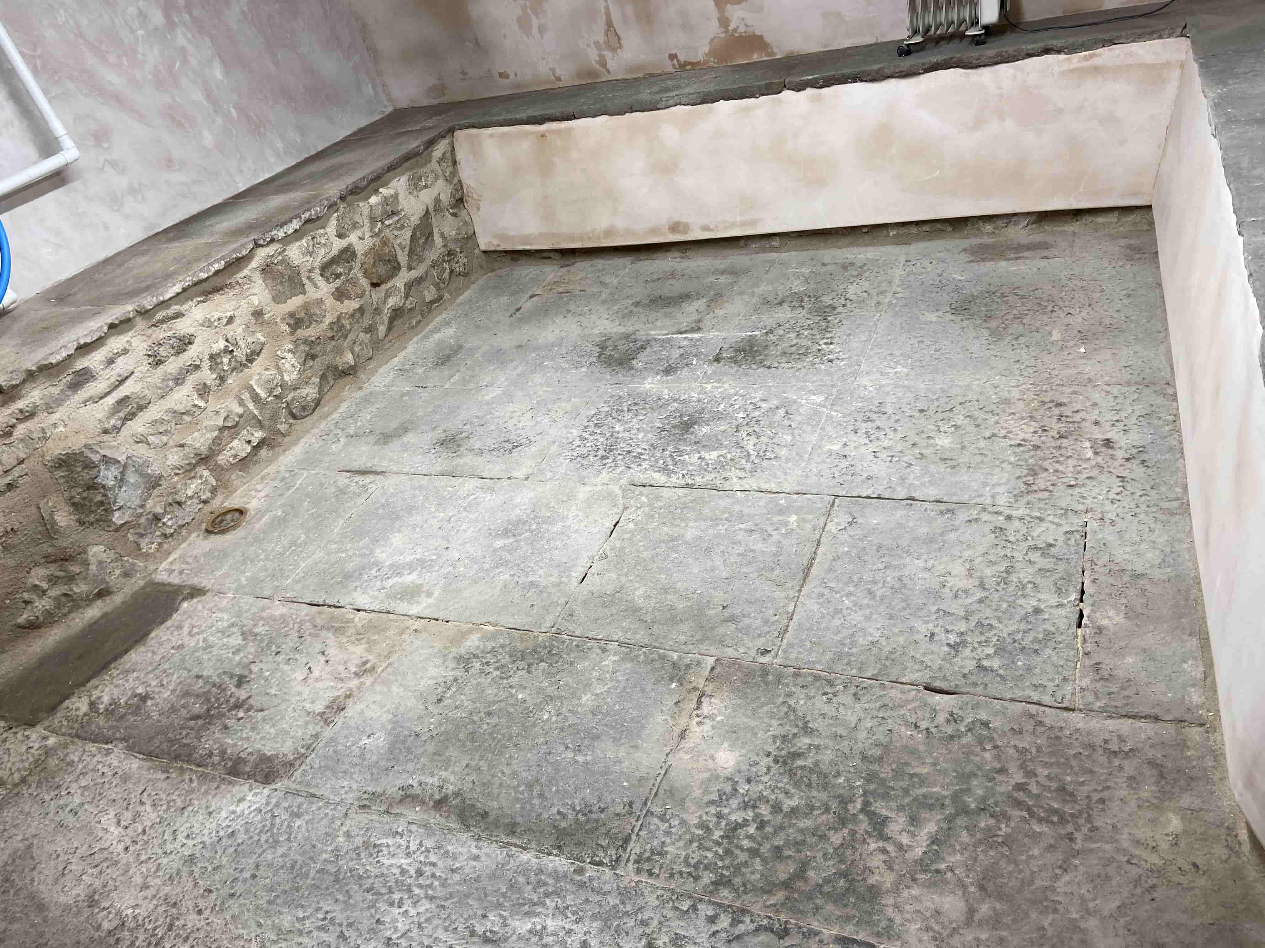 Black Flagstone Floor Before Renovation Kendal